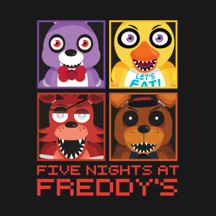 Five Nights at Freddy's Group t-shirts