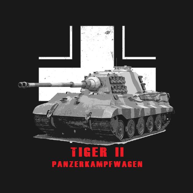 Panzerkampfwagen Tiger II Military Tank WW2