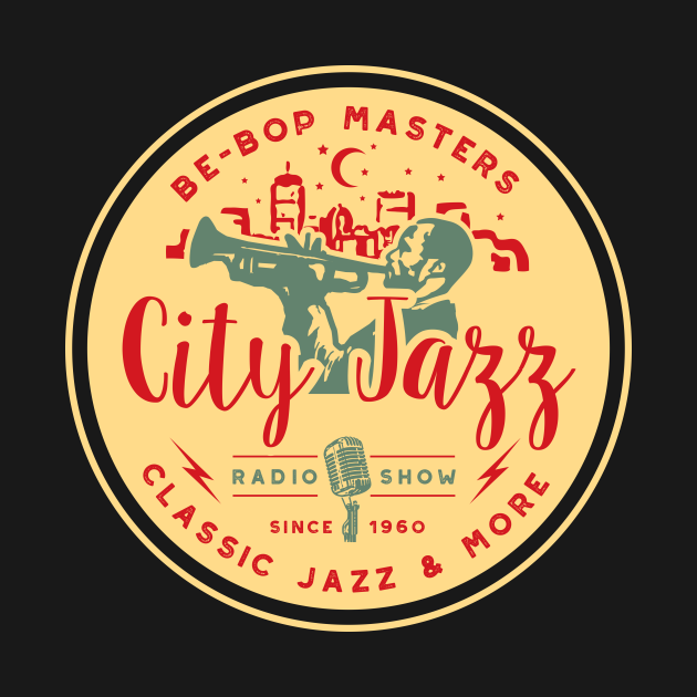 Vintage Jazz Radio Show Emblem