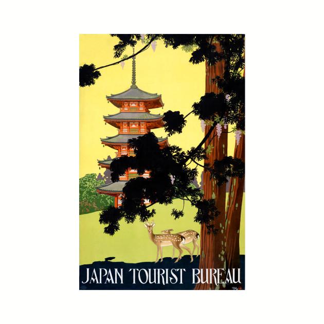 Vintage Travel Poster Japan Pagoda