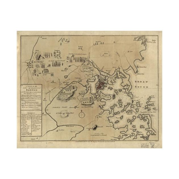 Vintage Boston Revolutionary War Map (1775) - American Revolutionary ...