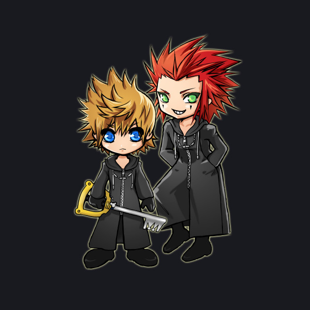Roxas and Axel - Kingdom Hearts