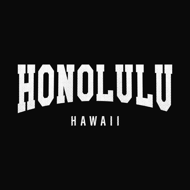 Honolulu, Hawaii - HI Football Typography