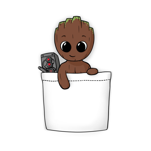 c239d93ed4 Pocket Baby Groot - Baby Groot - T-Shirt