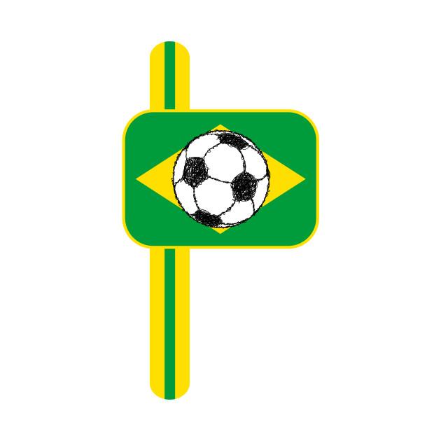Brazil Flag Football Sketch