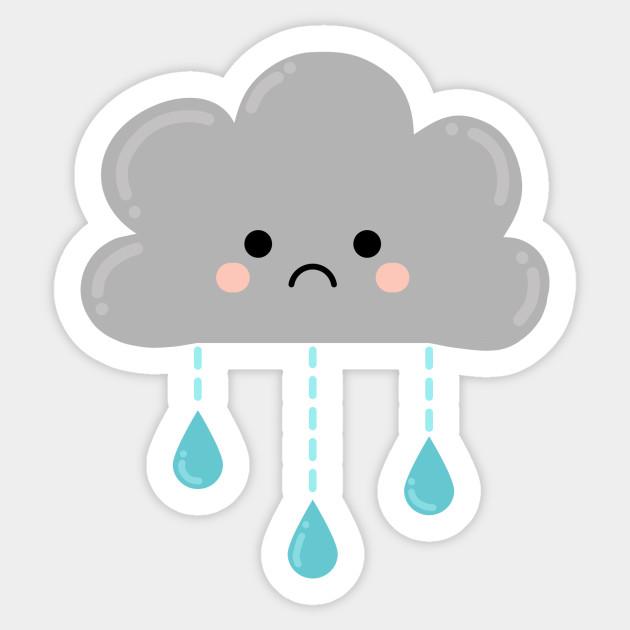 Cute Kawaii Rain Cloud - Okay To Feel Sad - Kawaii ...