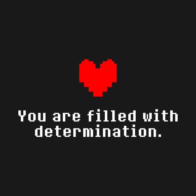 undertale determination heart undertale t shirt teepublic