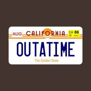 Delorean licence plate t-shirts