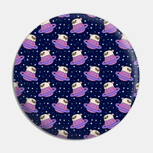 Saturn Space Pug Pattern