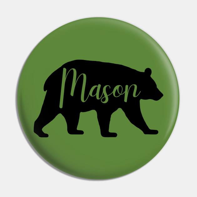 Mason Bear Spirit Animal Silhouette Personalized Name