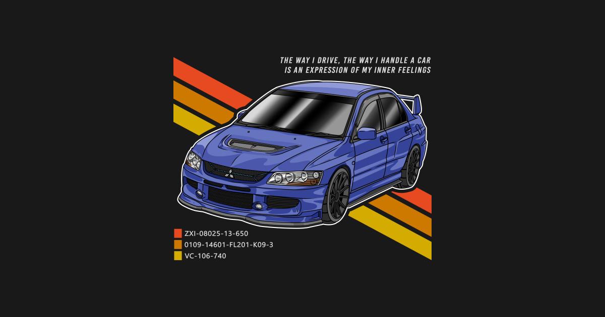 Mitsubishi Lancer Evolution - Street Car - Mask | TeePublic