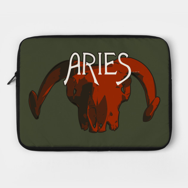 57bf9e801 Red Ram Skull for Aries Astrological Zodiac Sign - Aries - Laptop ...