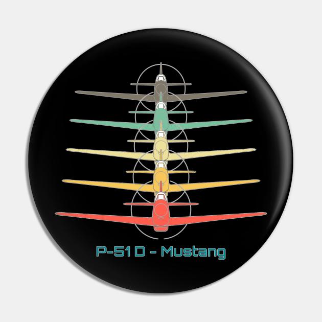 North American P-51 Mustang Fighter Retro