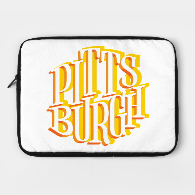 Pittsburgh PA Yellow Lettering Design