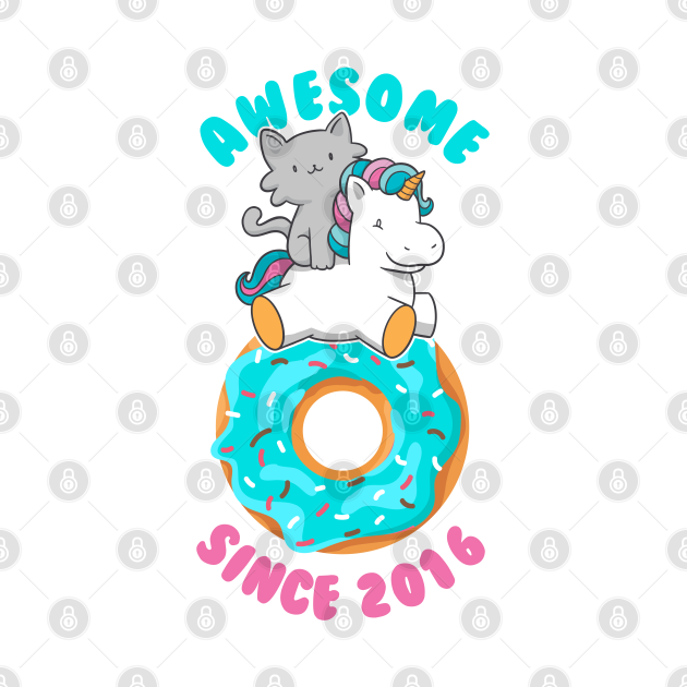 Donut Kitten Unicorn Awesome since 2016
