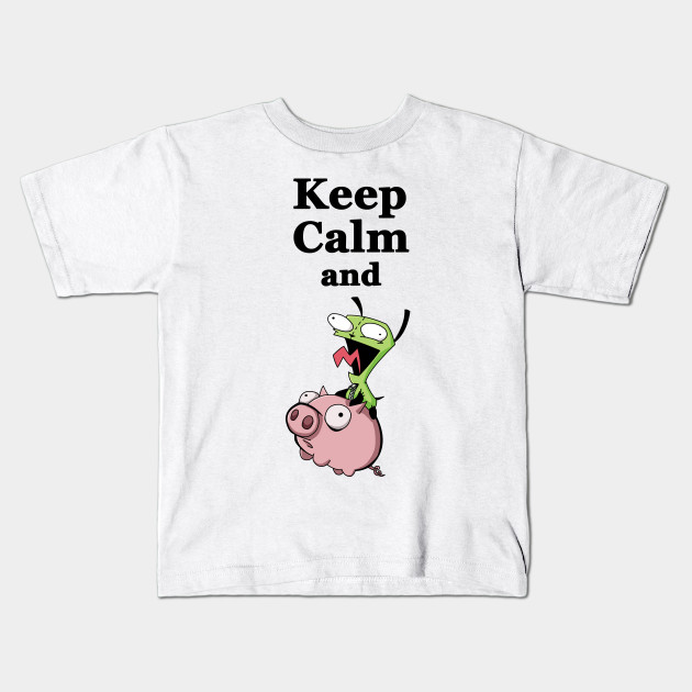 keep calm and ride the pig cartoons kids t shirt teepublic