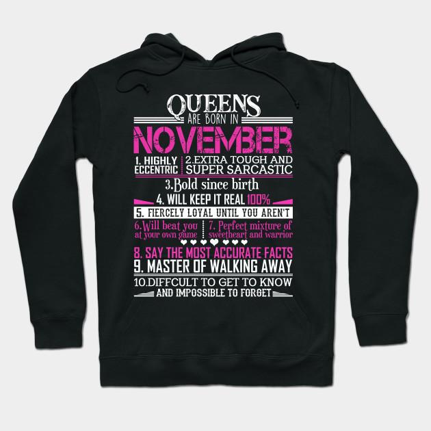 November Girl Will Keep it Real 100 Girl Ladies Women Sweatshirt tee