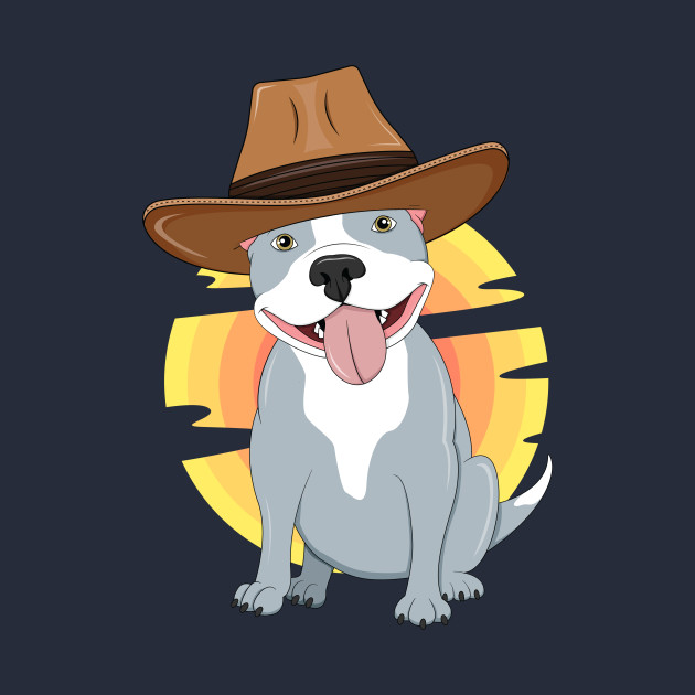 Western Pitbull Dog Lover Texas Rodeo South Kids Country