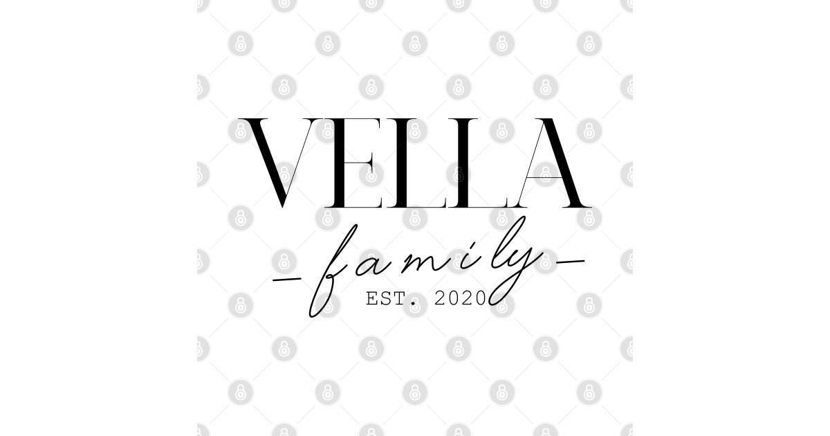 Vella Family EST. 2020, Surname, Vella - Vella - Crewneck ...