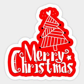 merry christmas sticker - Merry Christmas Stickers
