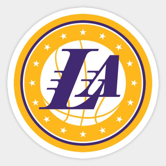 Lakers Logo Basketball La Lakers Sticker Teepublic