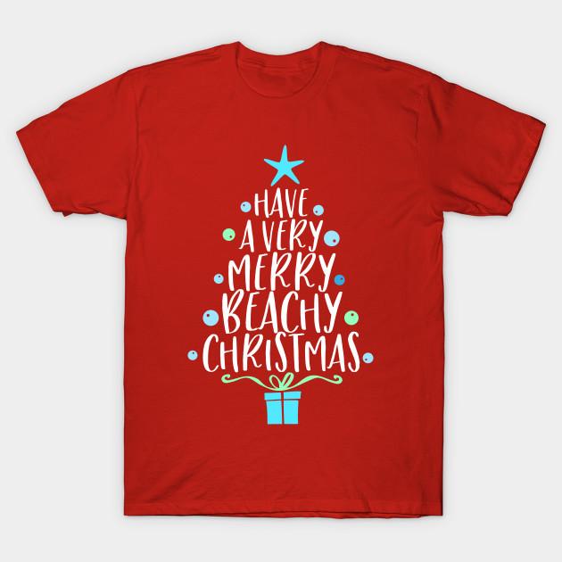 Christmas Shirt.Tropical Christmas Shirt For Women Christmas Beach Vacation Have A Very Merry Beachy Christmas
