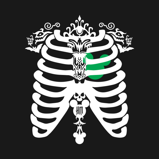 HM Chest Cavity green/white by Topher Adam *ORIGINAL OWNER OF THIS ARTWORK