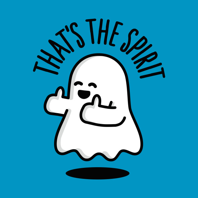 That's the spirit cute ghost thumbs up Halloween