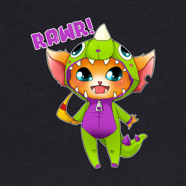 Chibi Dino Gnar - league of legends