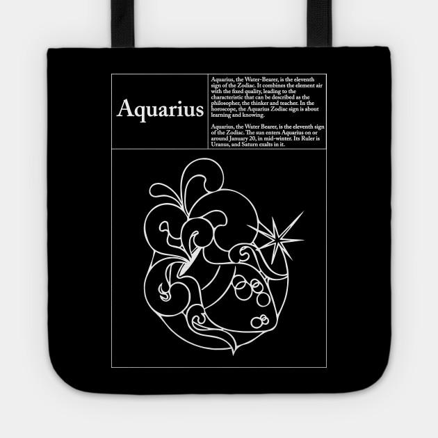 Aquarius Symbol And Description Zodiac Symbol Tote Teepublic