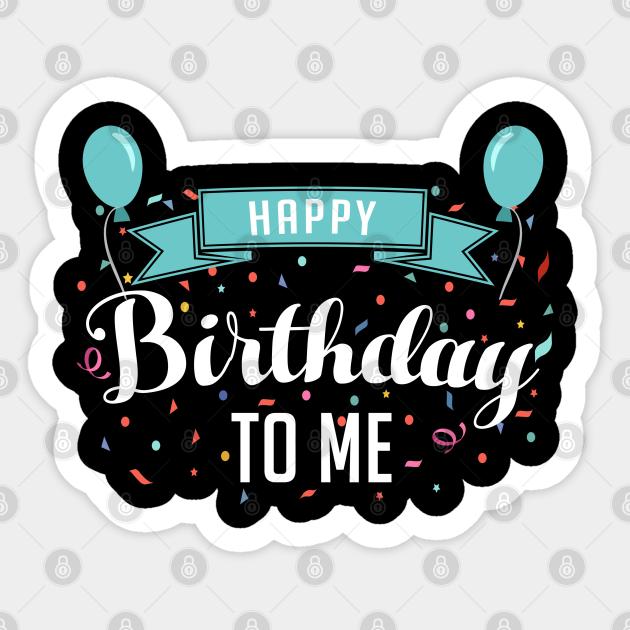 Confetti Happy Birthday Stickers