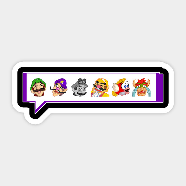 Pixel Mario Twitch Emotes