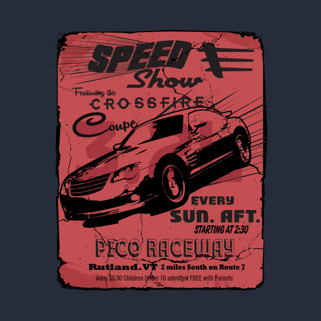 Xfire Coupe Vintage style racing poster