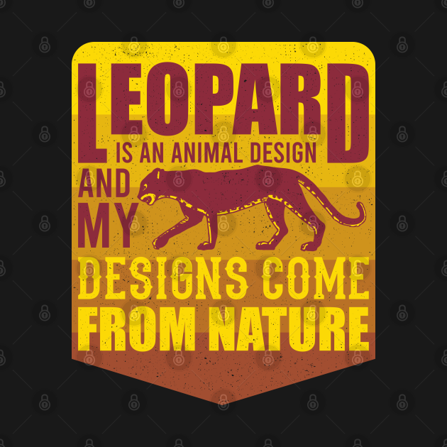 Leopard Design Wildlife Gift For Animal Lovers