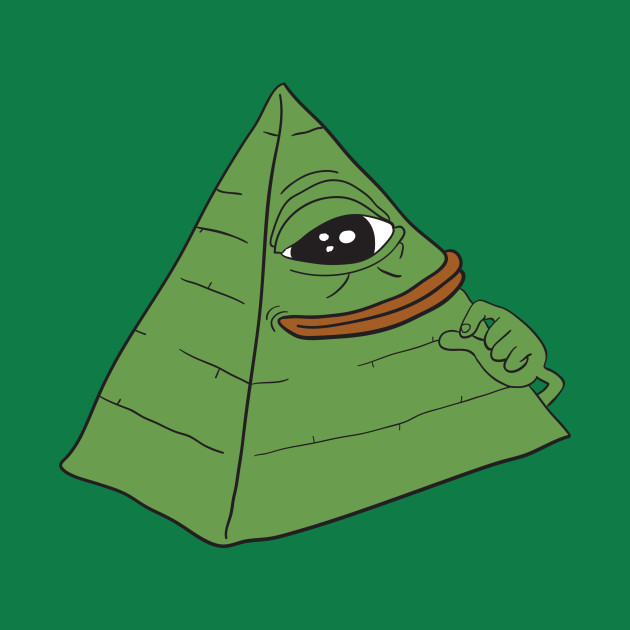 Pyramid Illuminati Pepe the frog