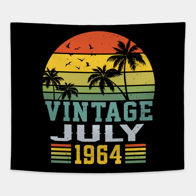 Retro Vintage July 1964 T Shirt 55th Birthday Decorations Tapestry