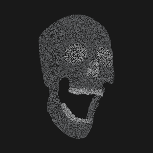 Leave a happy skull B/W