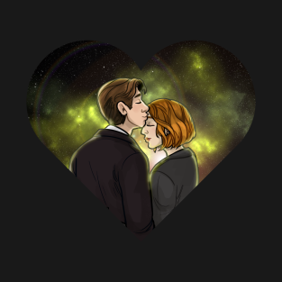 X-Files Mulder Scully OTP Kiss Ship t-shirts