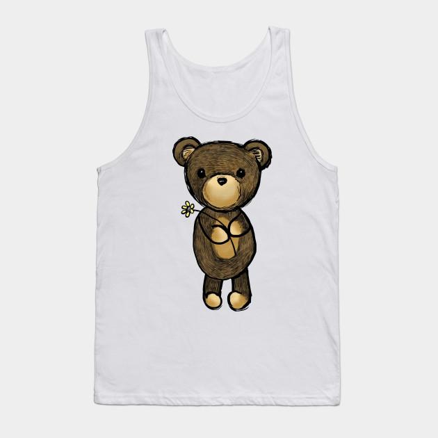 Adorable Teddy Bear Drawing Teddy Bear Tank Top Teepublic
