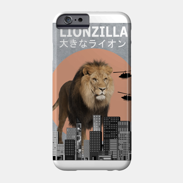 ee689cae4c9 Lionzilla Lion Funny Animal T-Shirt Lover Gift - Lion - Phone Case ...