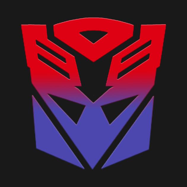 Autobot Decepticon Symbol Fusion Transformers T Shirt Teepublic