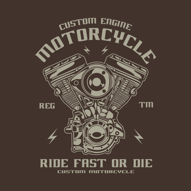 b58aa94a6 Custom engine motorcycle - Engine - T-Shirt | TeePublic