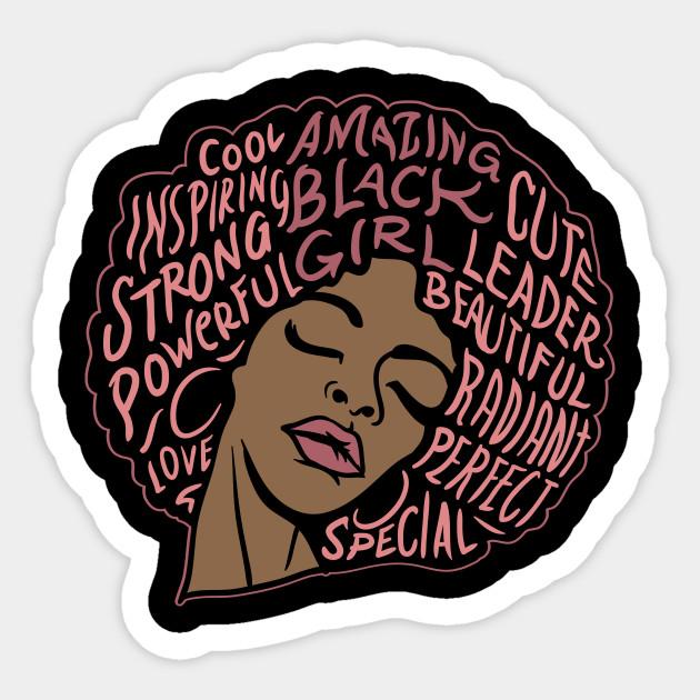 100269936002 Black Girl Magic T Shirt| Black Pride Tshirt| Black Girl Power Shirt| Black  Girl Rock Shirt Sticker