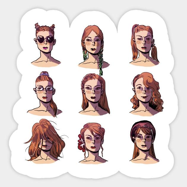 Crazy Hair Day Hairstyle Sticker Teepublic Uk
