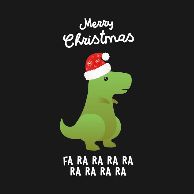 Christmas Dinosaur.Merry Christmas Dino Dinosaur T Rex