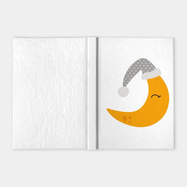 Yellow Moon With Gray Nightcap, Sleeping Moon
