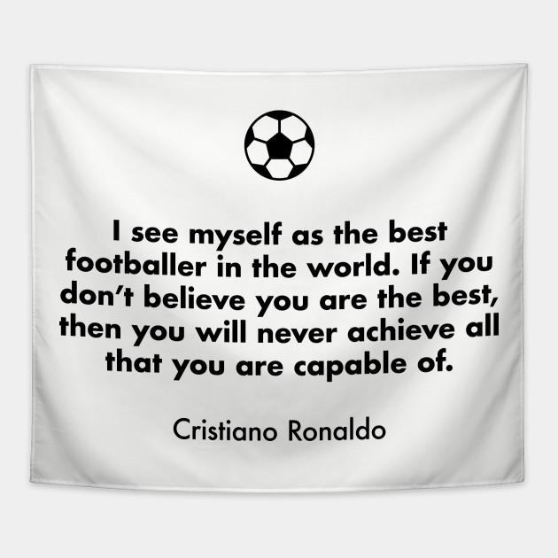 Cristiano Ronaldo 26 Quote Photo Real Madrid Footballer Black White Poster