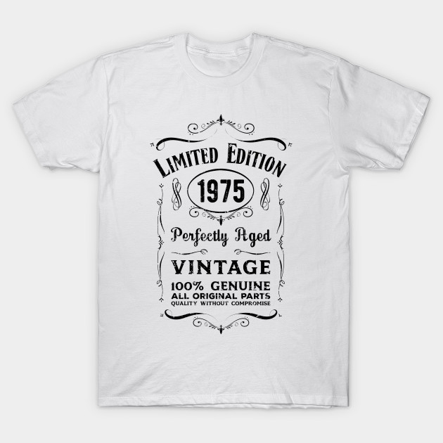 Vintage 1975 Limited Edition 45th Birthday T-Shirt