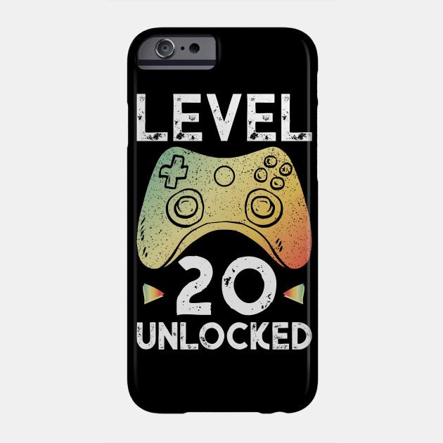 20th Birthday Boy Gamer Shirt Level 20 Unlocked Gift Tee