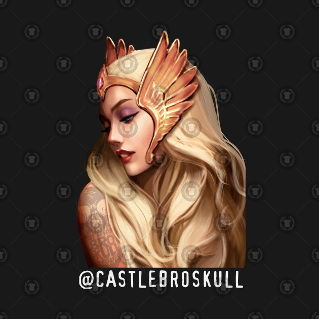 She-Ra with Broskull Tattoo Character Art V.1 with Tag